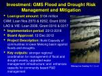 investment gms flood and drought risk management and mitigation