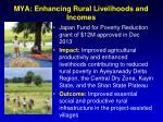 mya enhancing rural livelihoods and incomes