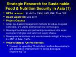 strategic research for sustainable food nutrition security in asia 1