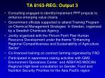 ta 8163 reg output 3