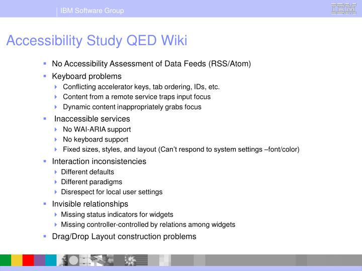 Accessibility Study QED Wiki