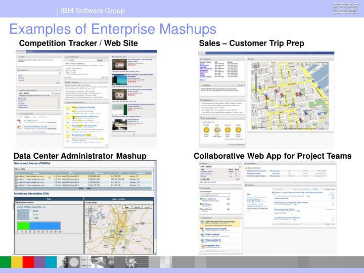 Examples of Enterprise Mashups