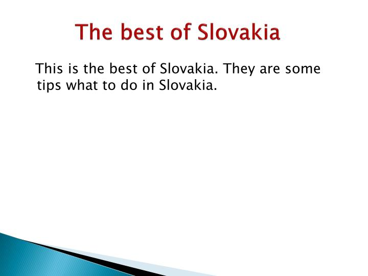 The best of Slovakia