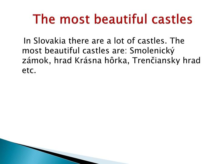 The most beautiful castles
