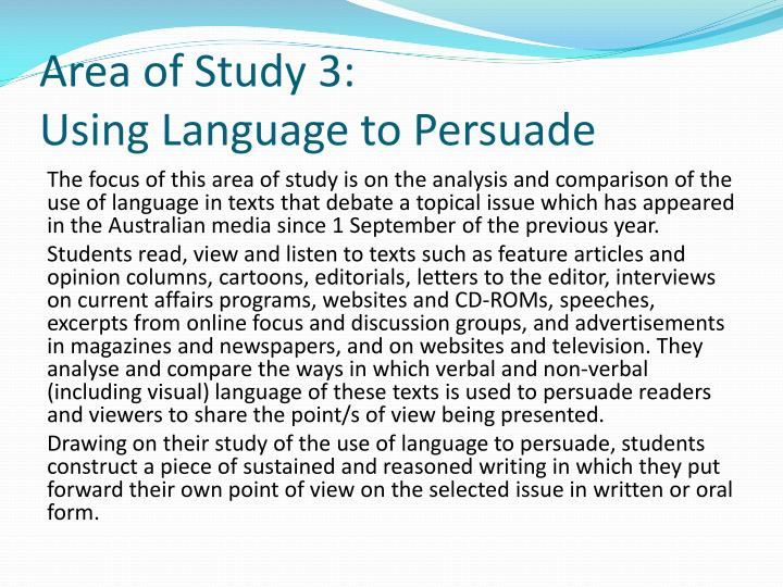 an analysis of the use of language Also be on the lookout for figurative language, which is the author's use of the five senses for example, use of our sense of sight is a popular sense to analyze the image of a red rose might symbolize romance, while the image of red blood generally symbolizes danger metaphors are a key aspect to analyzing literature.