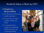 health safety at work act 19744