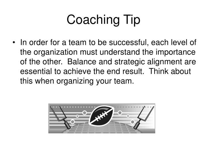 Coaching Tip