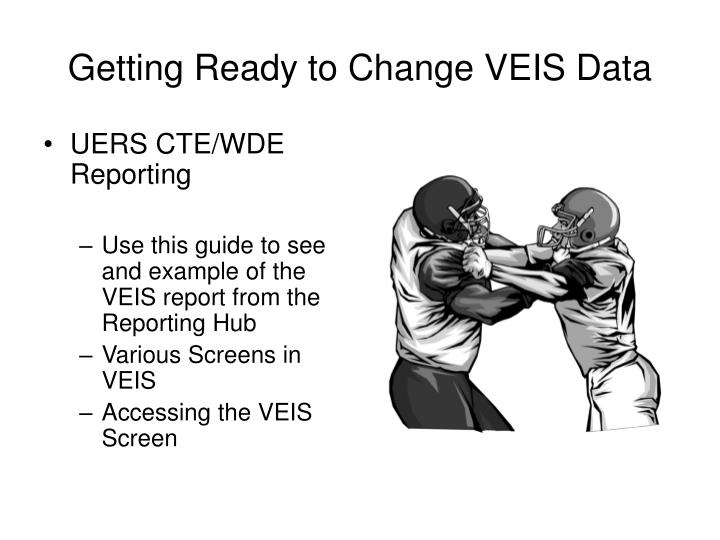 Getting Ready to Change VEIS Data
