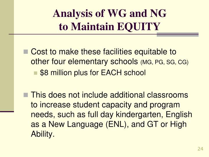 Analysis of WG and NG