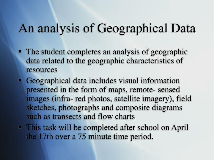 An analysis of Geographical Data