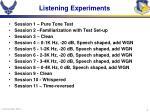 listening experiments