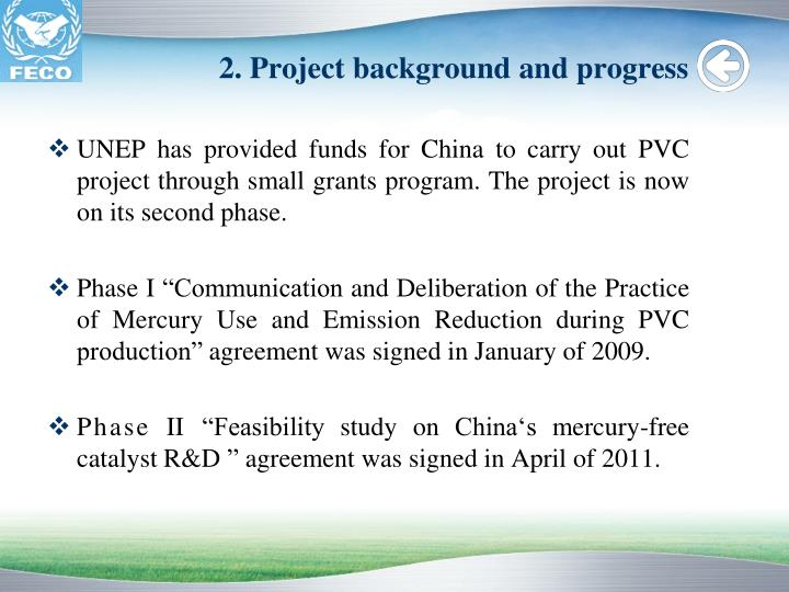 2. Project background and progress