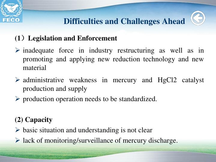 Difficulties and Challenges