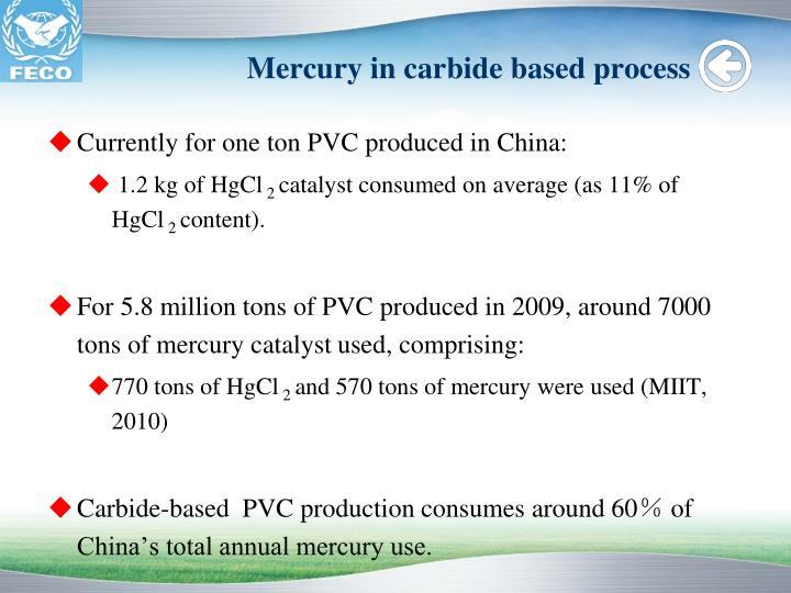 Mercury in carbide based process
