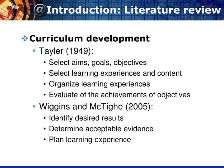 Introduction: Literature review