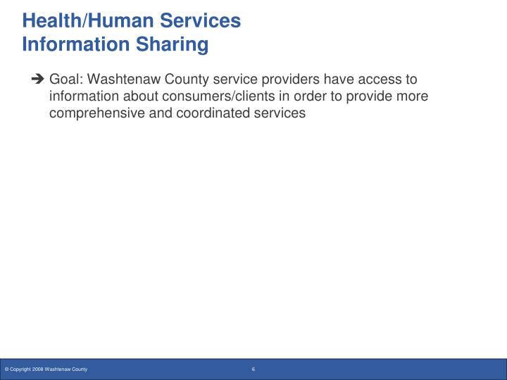 Health/Human Services