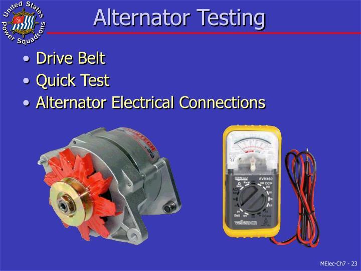 Alternator Testing