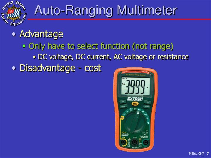 Auto-Ranging Multimeter