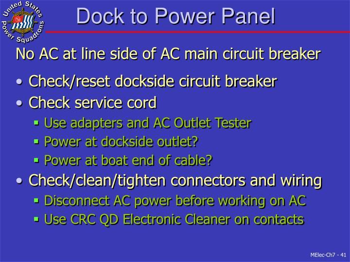 Dock to Power Panel