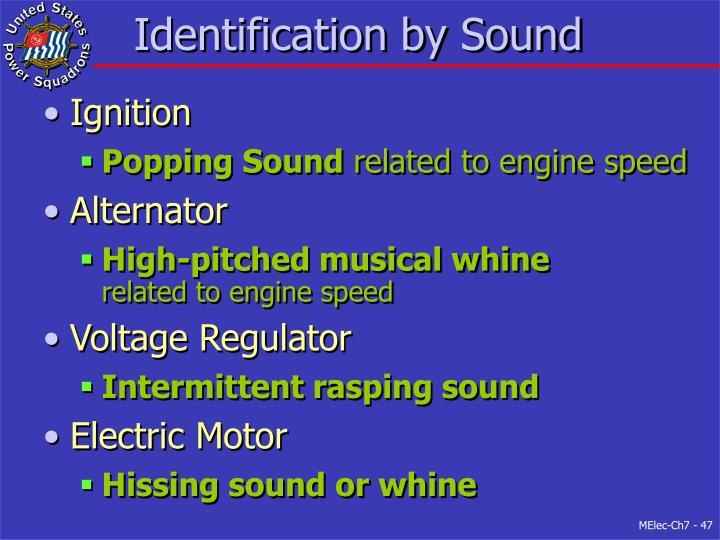 Identification by Sound