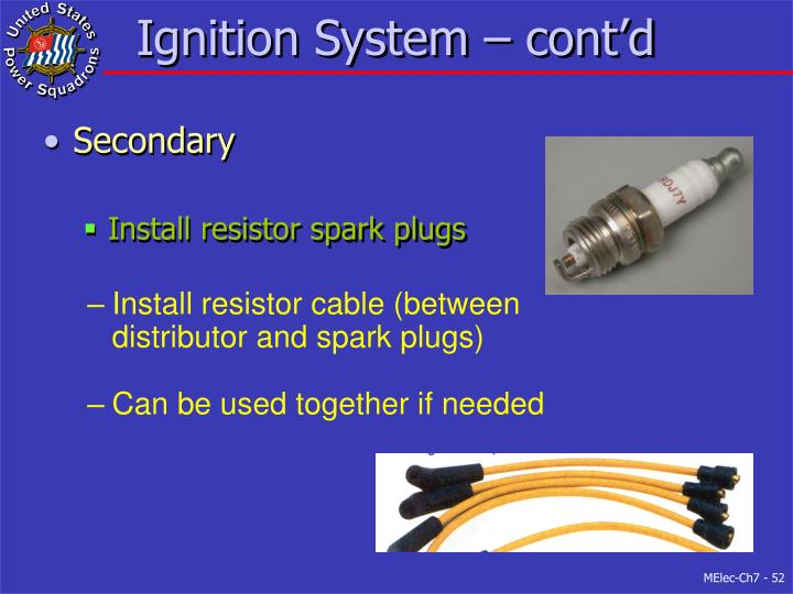 Ignition System – cont'd