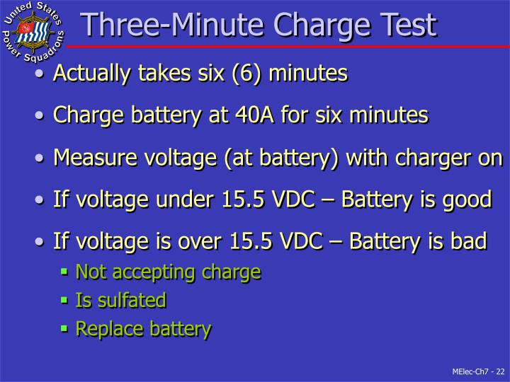 Three-Minute Charge Test
