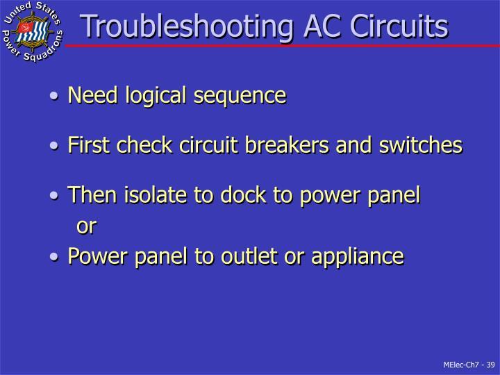 Troubleshooting AC Circuits
