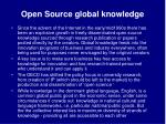 open source global knowledge