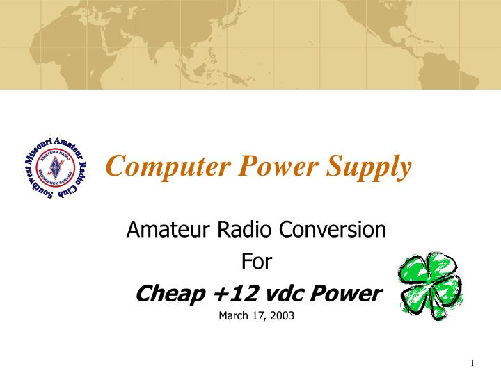 computer power supply n.