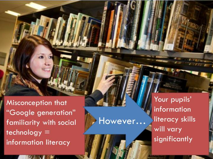 Your pupils' information literacy skills will vary significantly