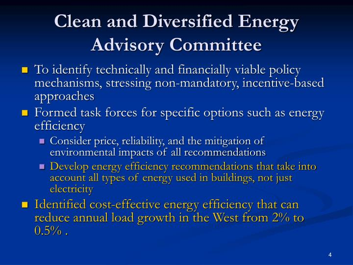 Clean and Diversified Energy Advisory Committee