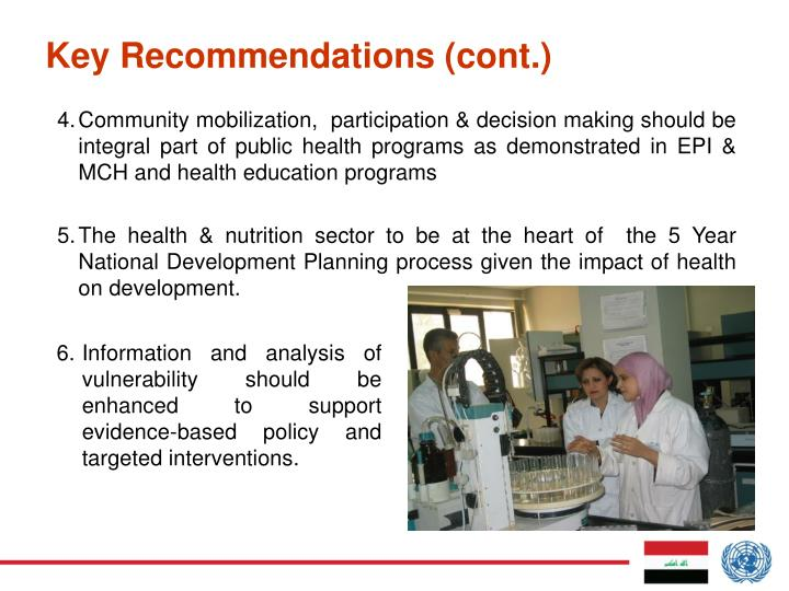 Key Recommendations (cont.)