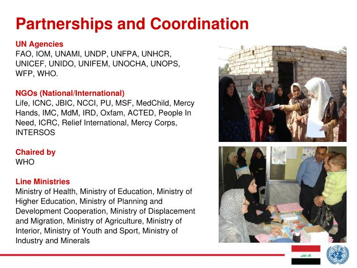 Partnerships and Coordination