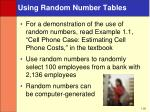 using random number tables