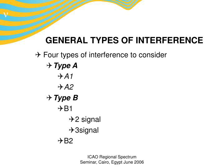 General types of interference