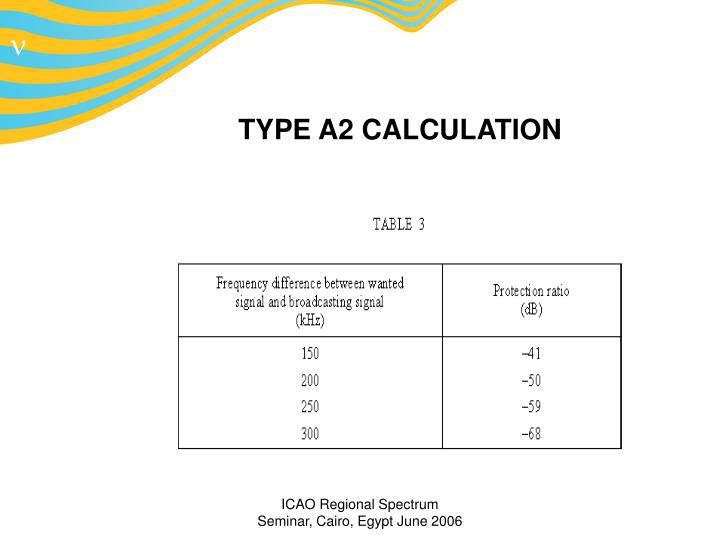 TYPE A2 CALCULATION