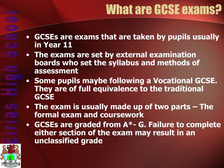 What are GCSE exams?