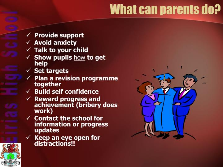 What can parents do?