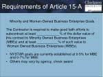 requirements of article 15 a1