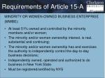 requirements of article 15 a3