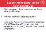 support from sector skills councils sscs
