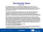 stockholder base alfred teo2