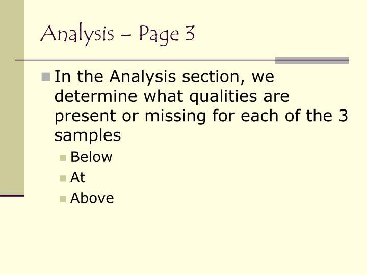 Analysis – Page 3