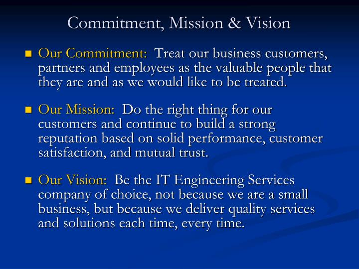 Our Commitment: