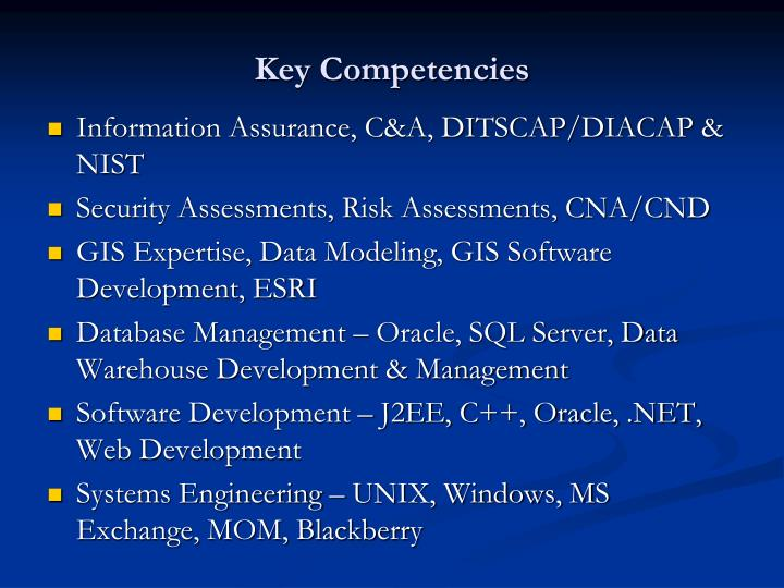 Key Competencies