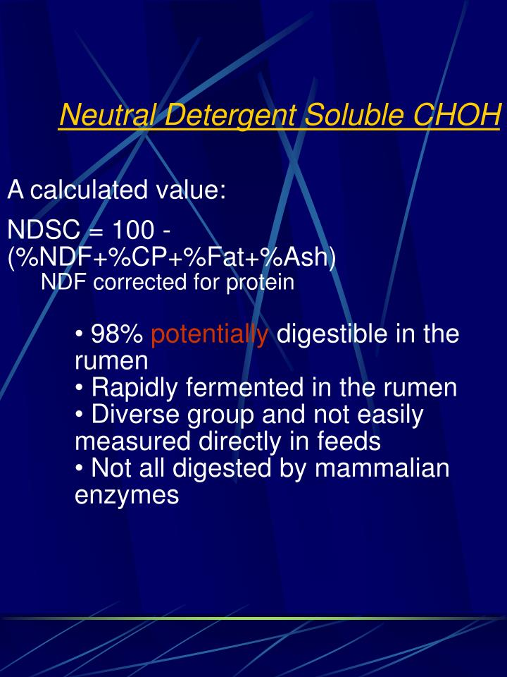 Neutral Detergent Soluble CHOH