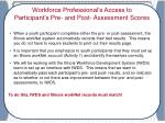 workforce professionals view of pre and post assessment evaluation results