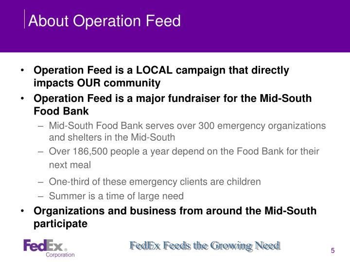 About Operation Feed