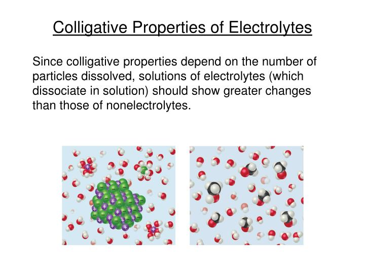 Ppt Colligative Properties Of Electrolytes Powerpoint Presentation