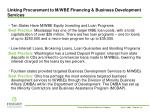 linking procurement to m wbe financing business development services